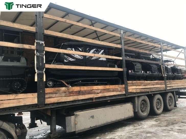 Компания Тингер из Вологодской области отправила в Европу очередную партию техники