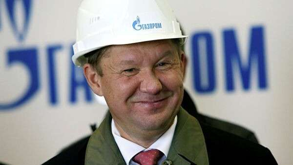 Алексей Миллер во время торжественной церемонии запуска в эксплуатацию первой очереди подземного хранилища газа в поселке Романово