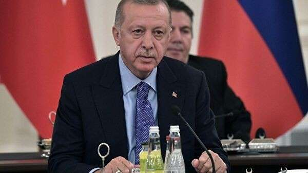 Президент Турции Реджеп Тайип Эрдоган на V встрече глав государств – гарантов Астанинского процесса содействия сирийскому урегулированию