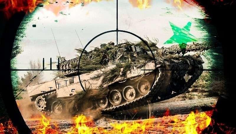 Сожжена колонна армии Турции войсками Башара Асада
