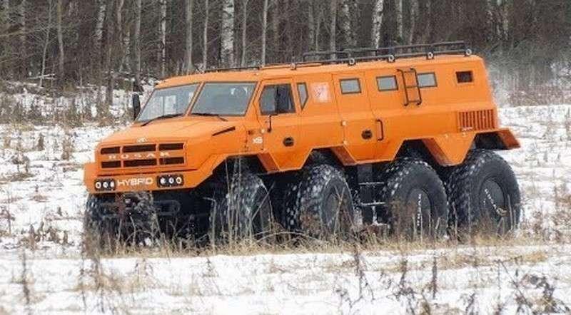 РУСАК-3994: четыре мотора на четыре оси