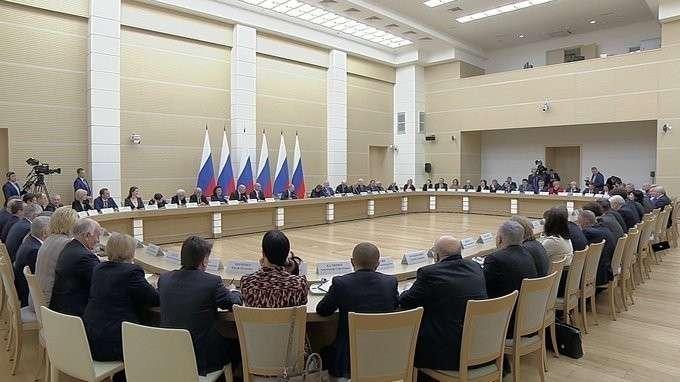 Встреча с рабочей группой по подготовке предложений о внесении поправок в Конституцию