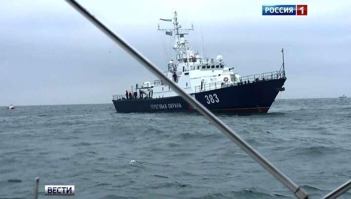 Погрануправления ФСБ РФ по Крыму задержали украинское судно с браконьерами