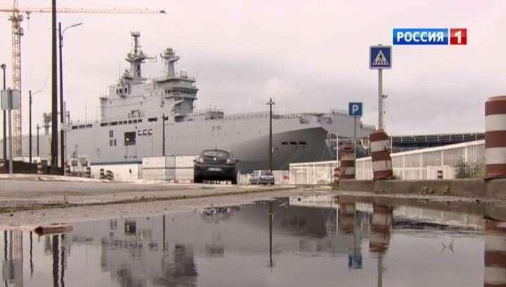 Российских моряков не пускают на борт Мистраля