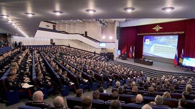Выступление на расширенном заседании коллегии Министерства внутренних дел Российской Федерации