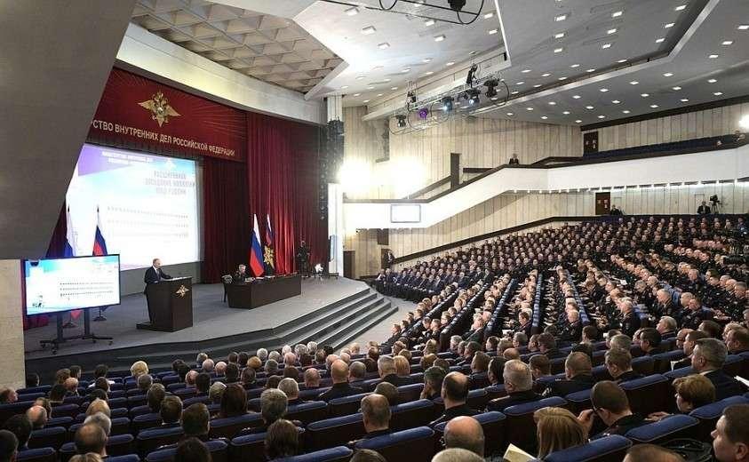 Расширенное заседание коллегии Министерства внутренних дел.