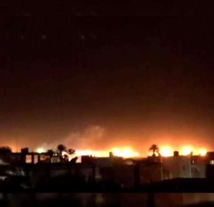 Ливия. Горящий аэропорт Митига. Хавтар врезал туркам