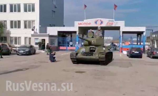 В Запорожье восстановили легендарный танк Т-34, чтобы он возглавил парад на День Победы