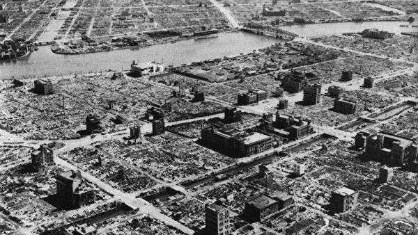 Полностью уничтоженные жилые кварталы Токио
