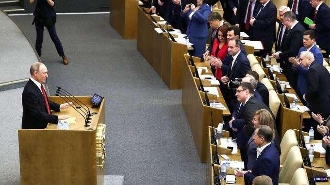 Владимир Путин выступил на заседании Государственной Думы по вопросам поправок в Конституцию