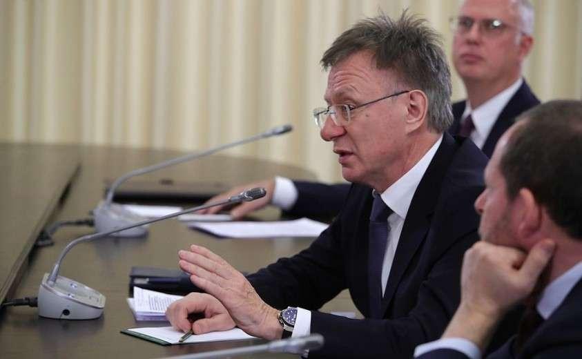 Основатель и управляющий партнёр компании Almaz Capital Partners Александр Галицкий на встрече с инвесторами.