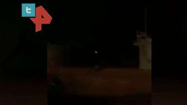 Видео ракетного удара по американской базе в Ираке