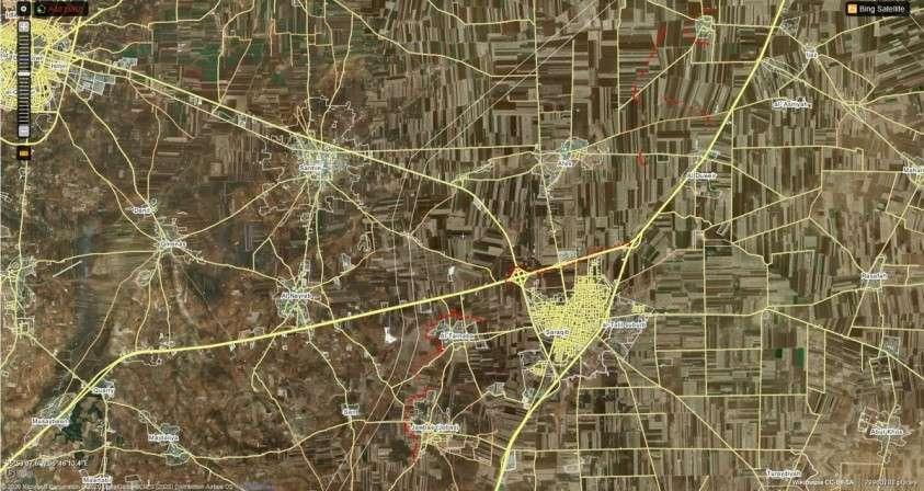 Война в Сирии. Обзор позиций фронта под Саракибом