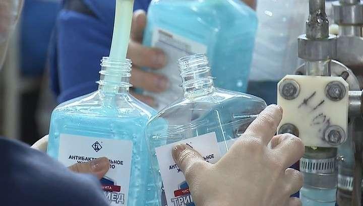 В России вдвое увеличено производство антисептической продукции