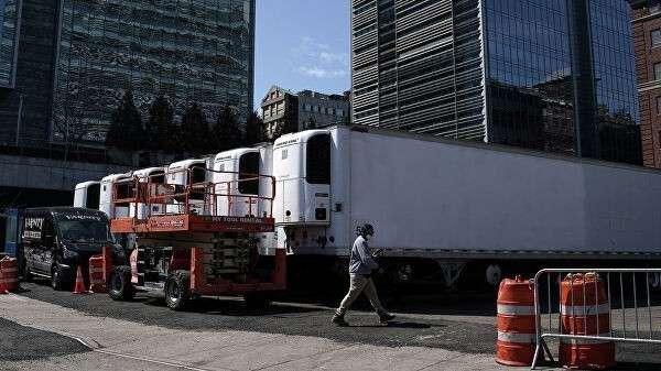 Грузовики-рефрижераторы в Нью-Йорке