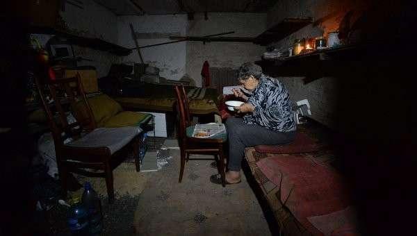Пенсионерка в Донецкой области. Архивное фото