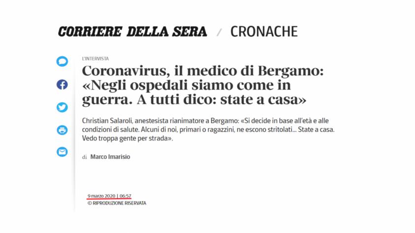 Италия: коронавирус в Бергамо – хронология «демократического» геноцида стариков