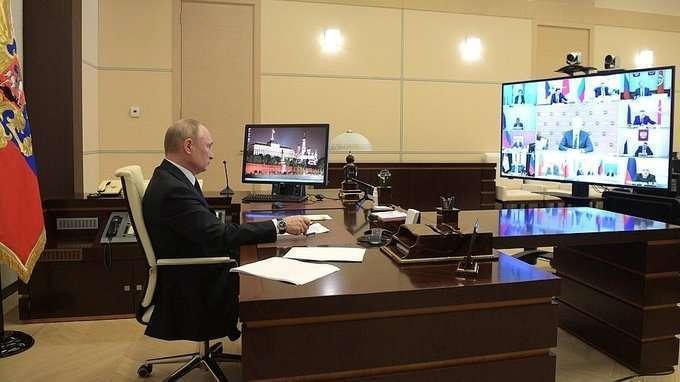 Вступительное слово на совещании с главами регионов по борьбе с распространением коронавируса в России