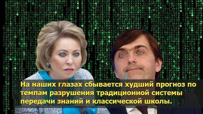 Электронный концлагерь. Матвиенко и Кравцов выступили за узаконение электронной школы