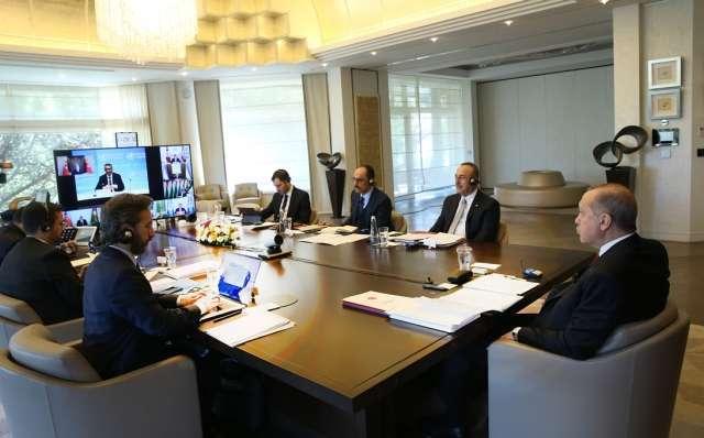 Реджеп Тайип Эрдоган проводит заседание Совета сотрудничества тюркоязычных государств в формате видеоконференции