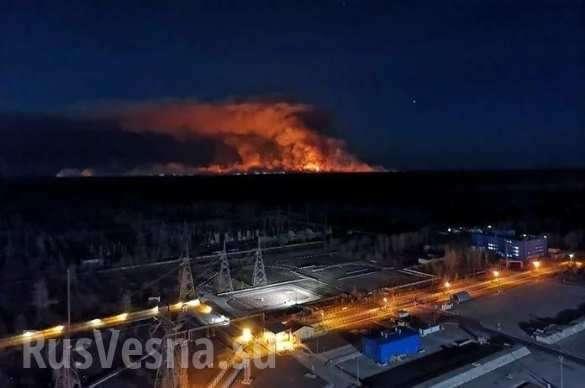 Пожар в Чернобыльской зоне вплотную подошёл к хранилищам радиоактивных отходов | Русская весна