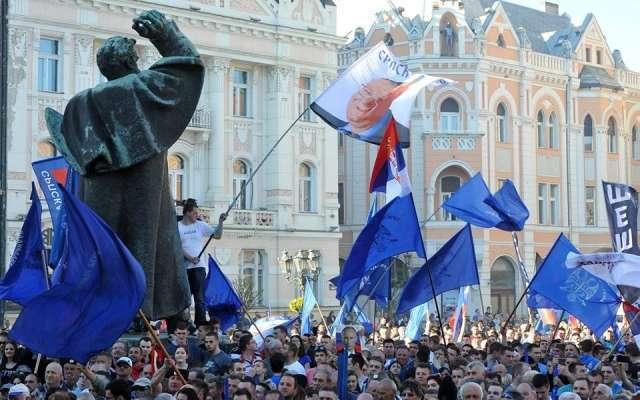 Митинг Сербской радикальной партии. 3 мая 2019 года