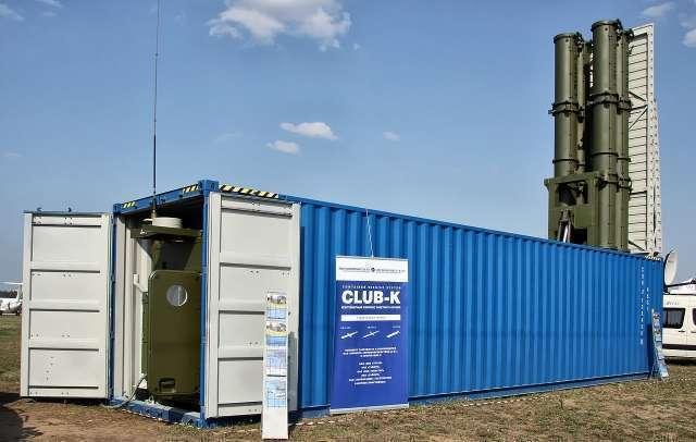 Контейнерный комплекс ракетного оружия Club-K с крылатыми ракетами «Калибр»