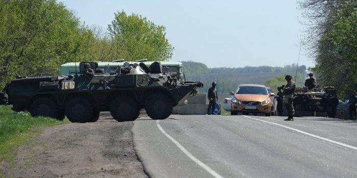 Укро-военные заблокировали трассу Харьков-Ростов
