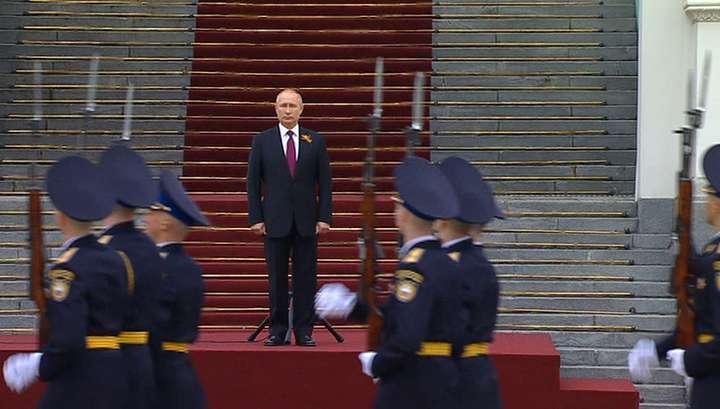 75 лет Победы: Владимир Путин провел смотр президентского полка и выступил с обращением