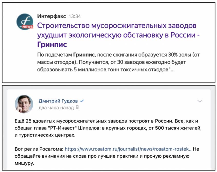 Пятая колонна борется против сжигания мусора в России, но – не на Западе
