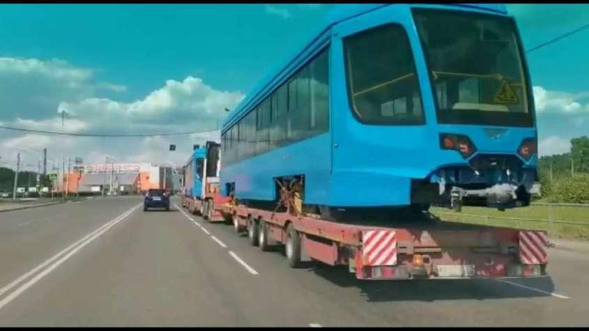 Новокузнецк получил первую партию новых трамваев производства УКВЗ