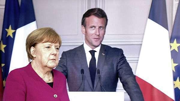 Канцлер Германии Ангела Меркель прибыла на совместную видеоконференцию с президентом Франции Эммануэлем Макроном, 18 мая 2020