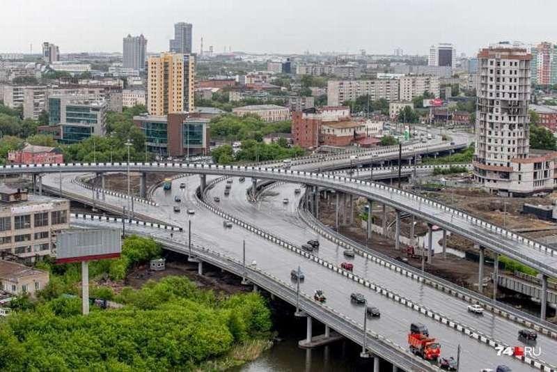 В Челябинске открыли самую большую дорожную развязку