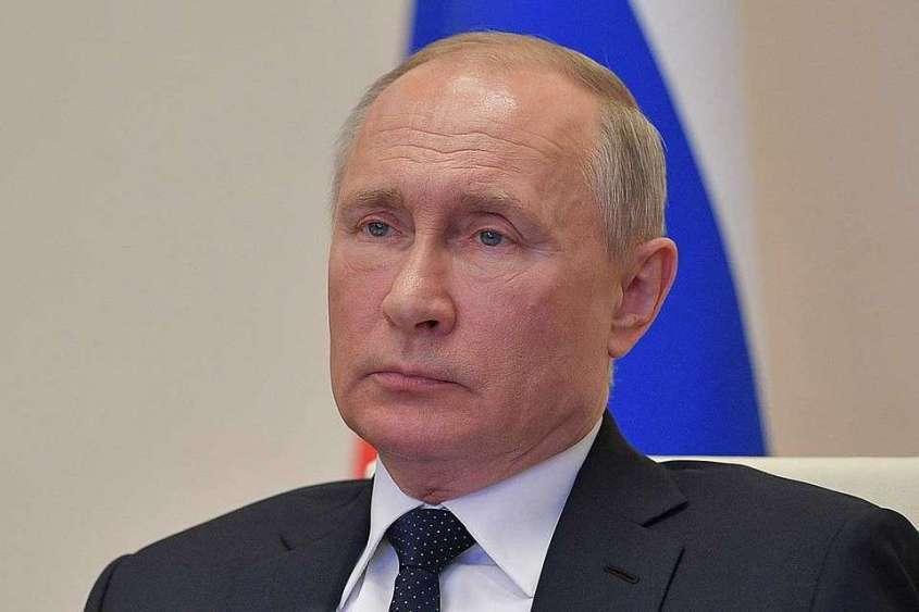 Президент России Владимир Путин во время совещания 8 апреля 2020 г. Фото: Алексей Дружинин/пресс-служба президента РФ/ТАСС