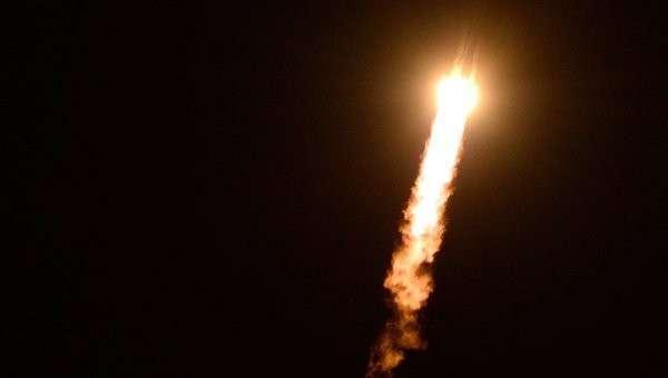 Старт ракеты-носителя Союз-ФГ с ТПК Союз ТМА-15М на космодроме Байконур, архивное фото