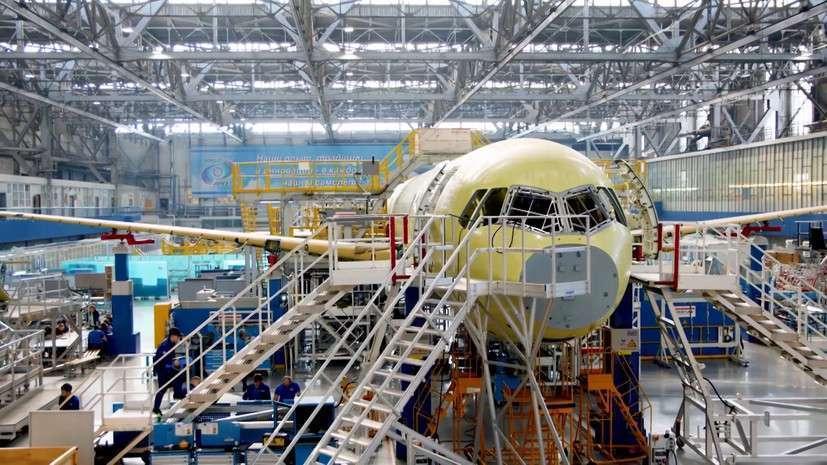 В Иркутске представили самолёт МС-21 с двигателем ПД-14
