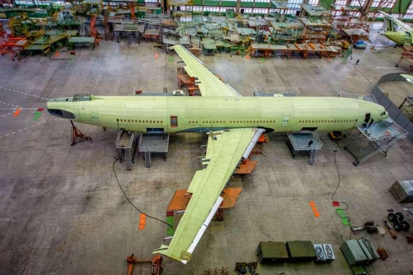 В Воронеже завершается сборка планера нового Ил-96-400М