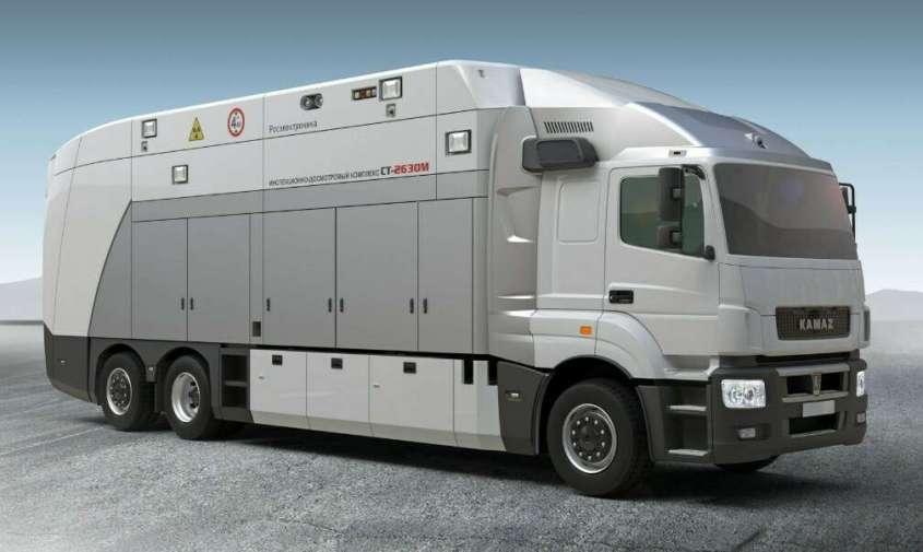 Ростех представил мобильный досмотровый комплекс для таможни на базе автомобиля КамАЗ