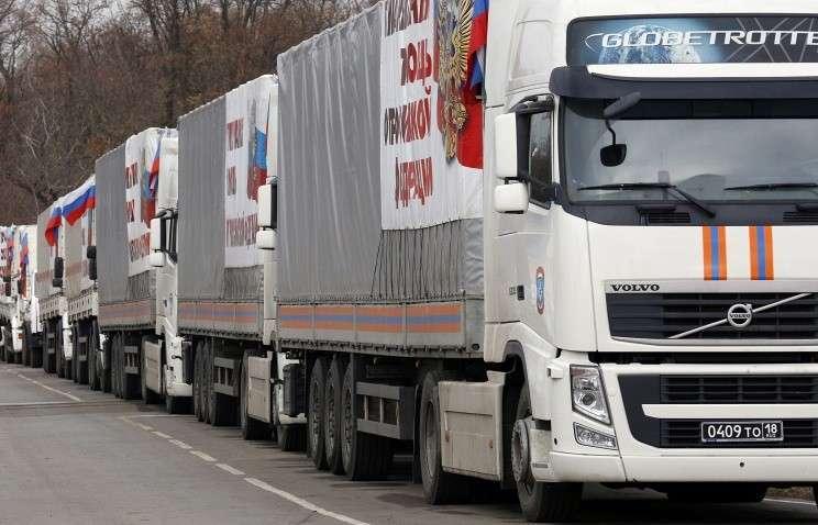 Очередная автоколонна с гуманитарной помощью для Донбасса выехала в Ростовскую область