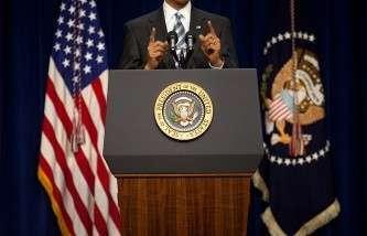 Президент Барак Обама в Белом доме, Вашингтон