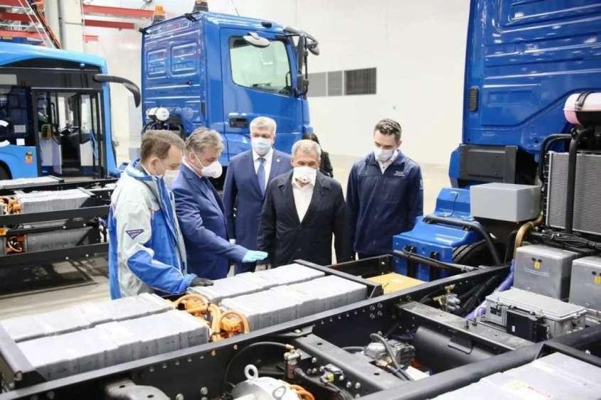 Электрические грузовики КамАЗ раскрыты на официальных снимках