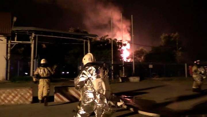 Пожар и взрыв в газохранилище в Казани, есть пострадавшие