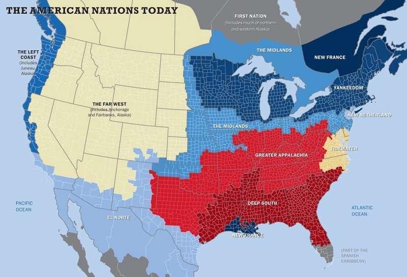 Разъединённые Штаты Америки и беспорядки в Сиэтле. Распад США на 9-11 наций
