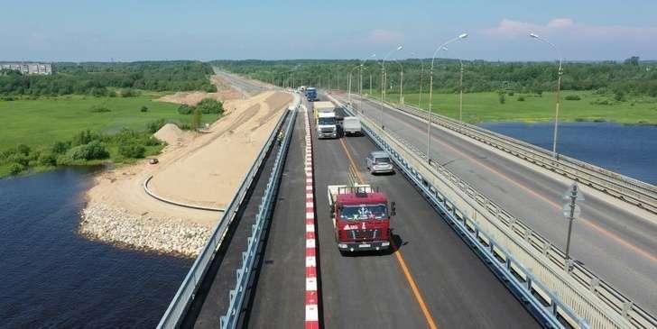 В Вологодской области запустили новый мост на самой загруженной в регионе трассе