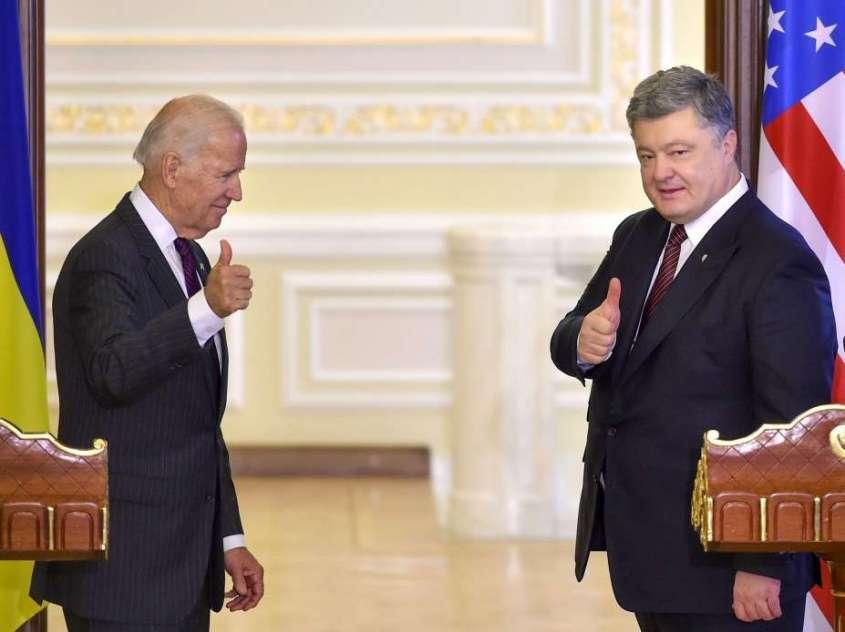 На Украине обнародована вторая часть телефонного разговора жуликов Порошенко и Байдена