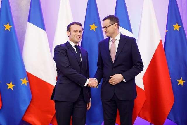 Встреча премьер-министра Моравецкого с президентом Франции Эммануэлем Макроном