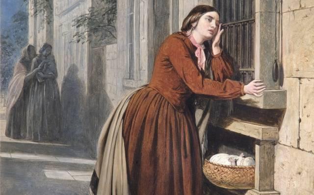 Генри Нельсон. Мать отдает своего ребенка (фрагмент). 1855
