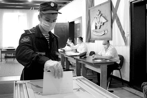 Процедура голосования активно проходила в воинских частях