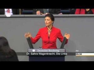 Сара Вагенкнехт: «Госпожа Меркель, вы вообще где обитаете?»