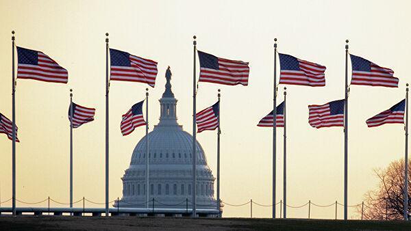 Американские флаги в Вашингтоне